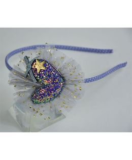 Little Miss Cuttie  Heart Design Hairband - Blue