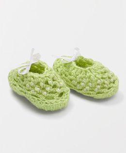 Mayra Knits Pearl Booties - Green