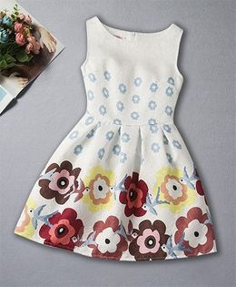 Pre Order - Awabox All Over Floral Dress - White