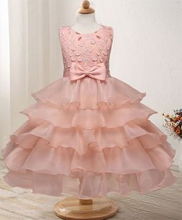 Pre Order - Awabox Dress With Frill Design - Pink