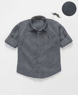 Robo Fry Full Sleeves Shirt With Bow - Grey