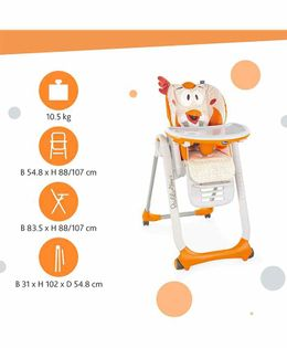 Chicco Polly 2 Start High Chair Chicken Print - Orange