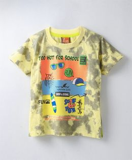 Little Kangaroos Half Sleeves Printed T-Shirt - Yellow
