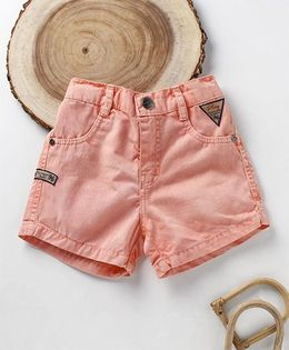 Little Kangaroos Solid Colour Shorts - Peach