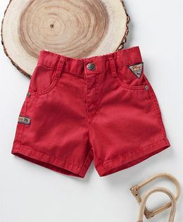 Little Kangaroos Solid Colour Shorts - Red