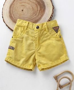 Little Kangaroos Solid Colour Shorts - Yellow