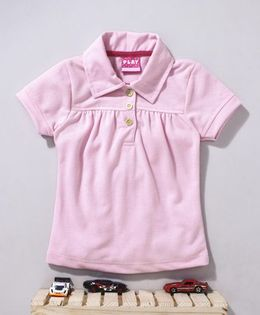 Little Kangaroos Half Sleeves Tee - Light Pink