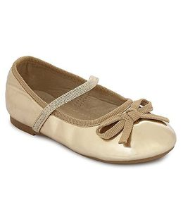 My Lil Berry Bow Ballerinas - Gold