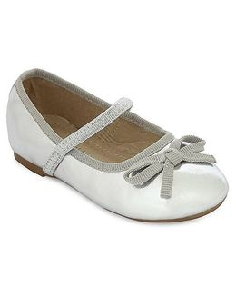 My Lil Berry Bow Ballerinas - Silver
