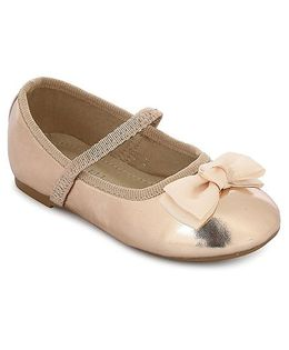 My Lil Berry Bow Top Mary Jane Ballerinas - Golden