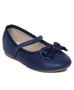 My Lil Berry Bow Top Mary Jane Ballerinas - Blue