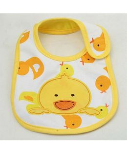 Little Palz Duck Embroidery Bib - Yellow