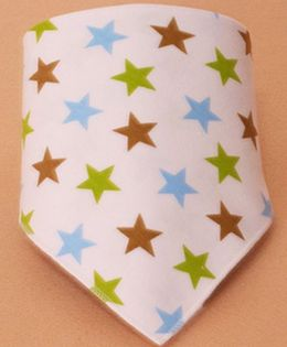 Little Palz Star Print Triangle Bib - Pink
