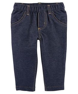 Carter's Pull On Knit Denim Pants - Blue