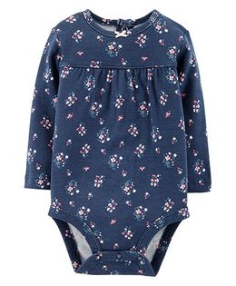 Carter's Floral Collectable Bodysuit - Navy Blue