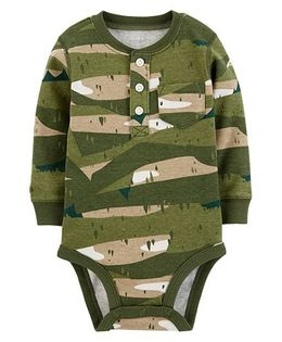 Carter's Full Sleeves Camo Collectible Bodysuit - Green