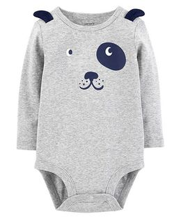 Carter's Full Sleeves Dog Collectible Bodysuit - Grey