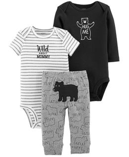 Carter's 3-Piece Little Character Set - Black