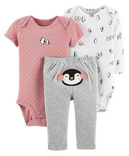 Carter's 3-Piece Little Character Set - Pink Grey
