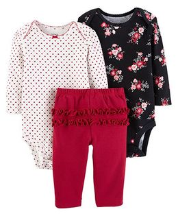 Carter's 3-Piece Little Character Set - Red Black