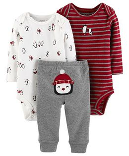 Carter's 3-Piece Little Character Set - Maroon Grey