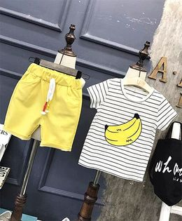 Pre Order - Superfie Fruit Print Tee & Shorts - Yellow