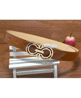 Milonee Trendy Belt With Buckle - Brown