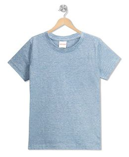 RAINE AND JAINE Space Dyed Basic T-Shirt - Blue