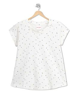 RAINE AND JAINE Dots Printed Top - White