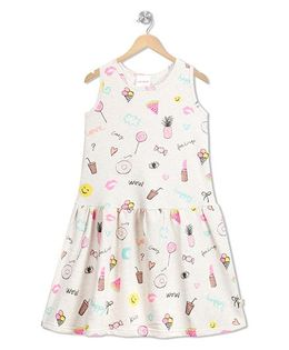 RAINE AND JAINE Fruits & Candies Print Dress - White