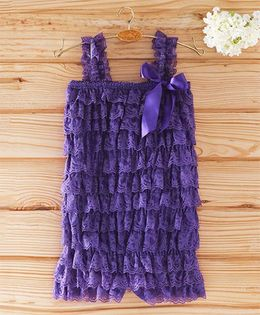 The Kidshop Frilly Lace Romper - Purple