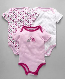 Luvable Friends Baby Printed Onesies Set - Pink