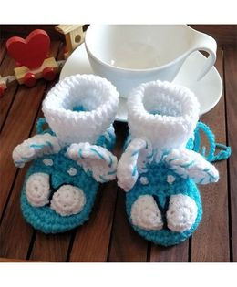 The Original Knit Puppy Booties - Blue