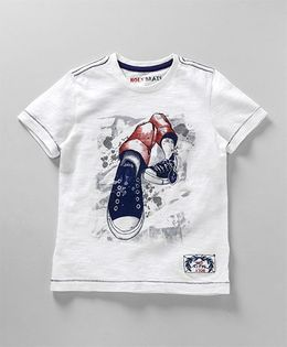 Holy Brats Shoe Print Tee - White