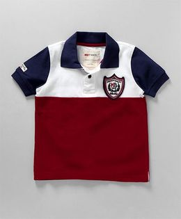 Holy Brats Polo Tee - Navy & Red