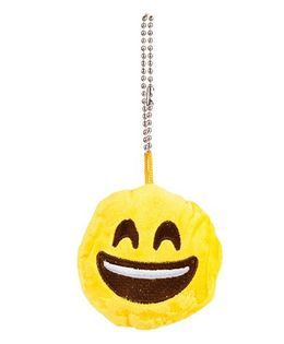 The Crazy Me Emoji Laughing Key Chain - Yellow