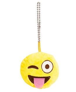 The Crazy Me Emoji Naughty Key Chain - Yellow