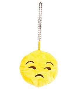 The Crazy Me Emoji Sad Key Chain - Yellow