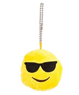 The Crazy Me Emoji Cool Sunglass Key Chain - Yellow