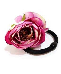 Aayera'S Nest Rose Rubber Band - Purple