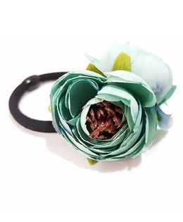 Aayera'S Nest Double Rose Rubber Band - Green