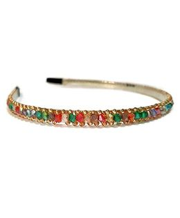 Aayera'S Nest Multicolor Beads Hairband - Multicolor