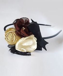 Soulfulsaai Floral Hairband - Black & White