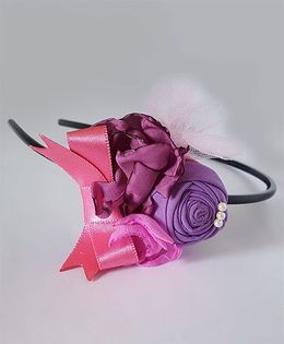 Soulfulsaai Floral Hairband - Purple