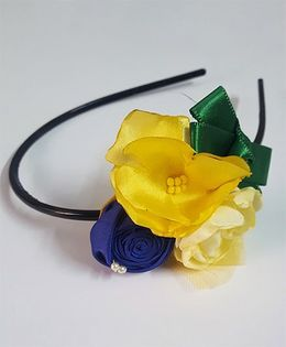 Soulfulsaai Floral Hairband - Yellow & Blue