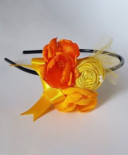 Soulfulsaai Floral Hairband - Orange