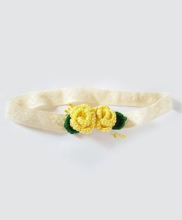 Soulfulsaai Roses Baby Stretch Hairband - Yellow