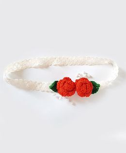 Soulfulsaai Roses Baby Stretch Hairband - Red