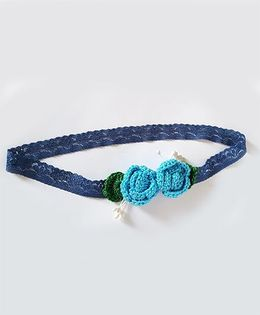 Soulfulsaai Roses Baby Stretch Hairband - Blue
