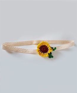 Soulfulsaai Sunflower Baby Stretch Hairband - Yellow
